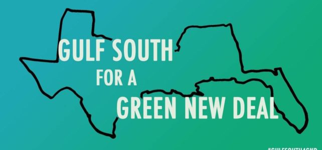 We support the Gulf South for a Green New Deal