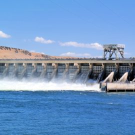 Dams with silt behind them