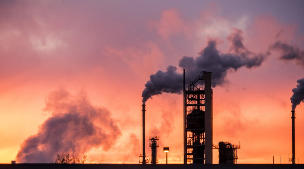 Emissions from an oil refinery that may cause cancer