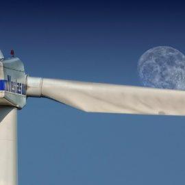 Windmilkl and moon