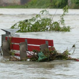 Park Bench in a flood