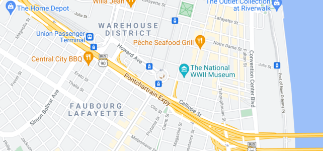 Map shjowing Lee Circle