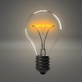 Energy p[owers light bulbs