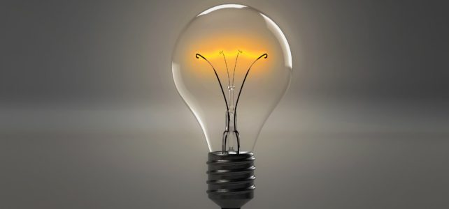 Energy p[owers light bulbs