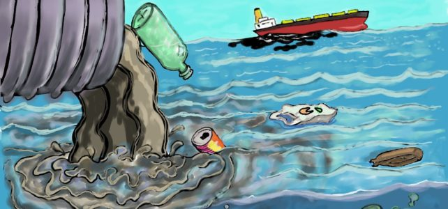 Drawing of pollution