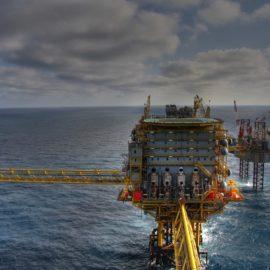 Oil rig off shore