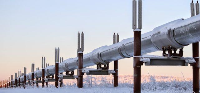 Pipeline in winter