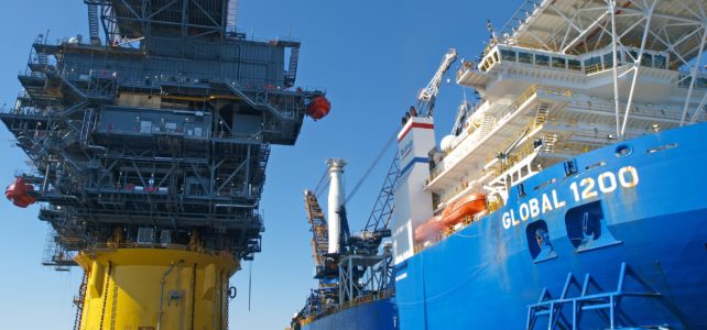 Oil rig and vessell