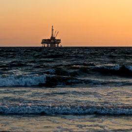 Off shore oil rig