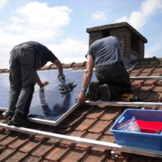 Solar panels survived Ida and helped others